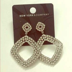 Stunning New York & Co Rhinestone Earrings
